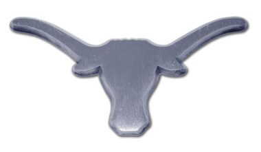 University of Texas Longhorn Matte Chrome Emblem image