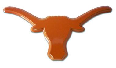 University of Texas Longhorn Orange Powder-Coated Emblem