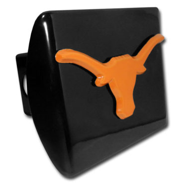 University of Texas Longhorn Orange Emblem on Black Hitch Cover