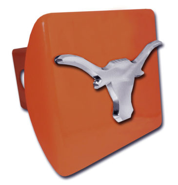 University of Texas Longhorn Emblem on Orange Hitch Cover