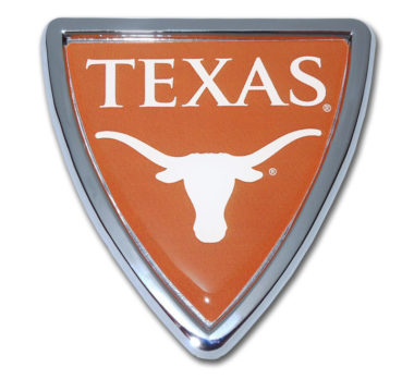 University of Texas Shield Chrome Emblem