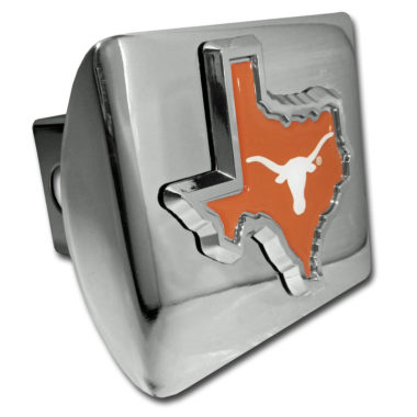 University of Texas State Shape Color Chrome Hitch Cover