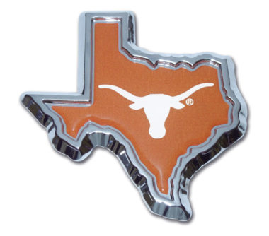 University of Texas State Shape Color Chrome Emblem