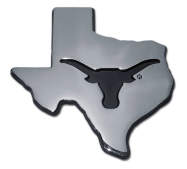 University of Texas State Shape Chrome Emblem