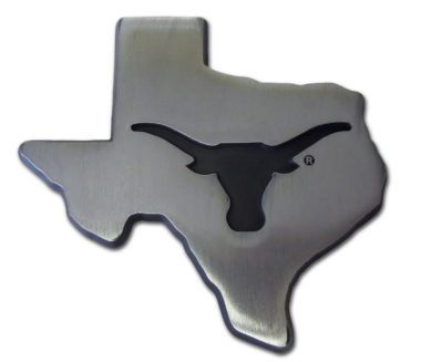University of Texas State Shape Matte Chrome Emblem