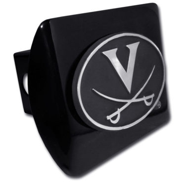 University of Virginia Emblem on Black Hitch Cover