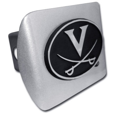 University of Virginia Emblem on Brushed Hitch Cover