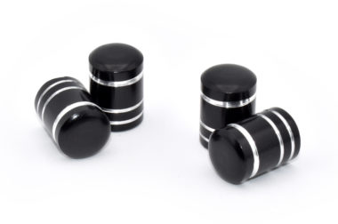 Black Aluminum Valve Caps