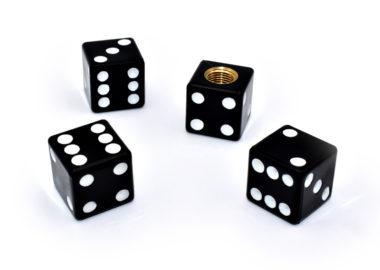 Black Dice Valve Caps image
