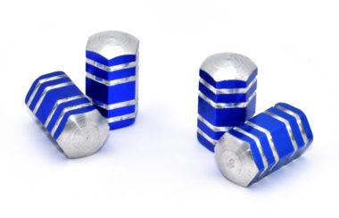 Blue Aluminum Valve Caps
