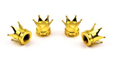 Gold Crown Valve Caps