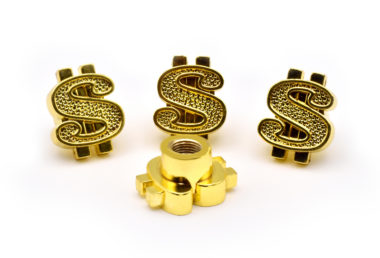 Dollar Sign Gold Valve Caps