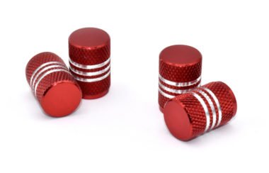 Red Aluminum Valve Caps