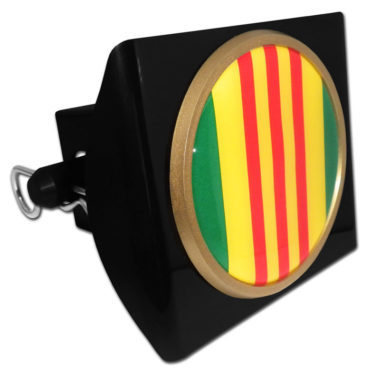 Vietnam Seal on Black Plastic Hitch Cover