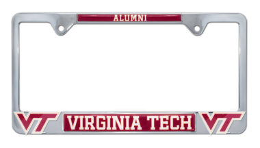 Virginia Tech Alumni 3D License Plate Frame