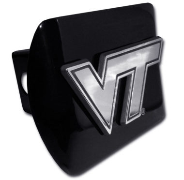 Virginia Tech Emblem on Black Hitch Cover image