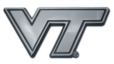Virginia Tech Chrome Emblem
