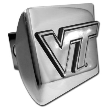 Virginia Tech Emblem on Chrome Hitch Cover