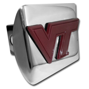 Virginia Tech Maroon Emblem on Chrome Hitch Cover