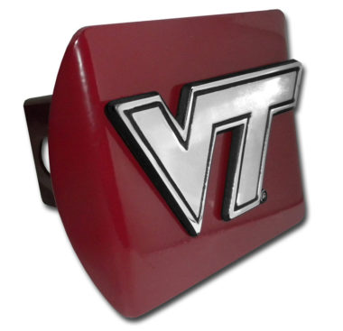 Virginia Tech Emblem on Maroon Hitch Cover image