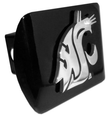 Washington State University Emblem on Black Hitch Cover