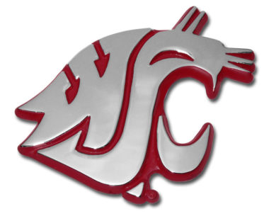 Washington State University Crimson Chrome Emblem