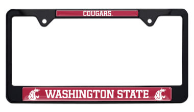 Washington State Cougars Black License Plate Frame