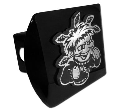 Wichita State Emblem on Black Hitch Cover