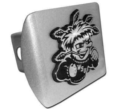 Wichita State Emblem on Brushed Hitch Cover