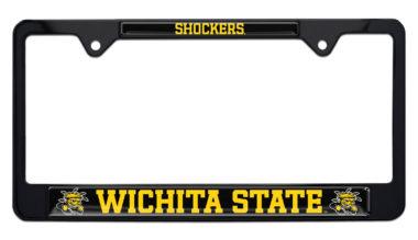 Wichita State Shockers Black License Plate Frame