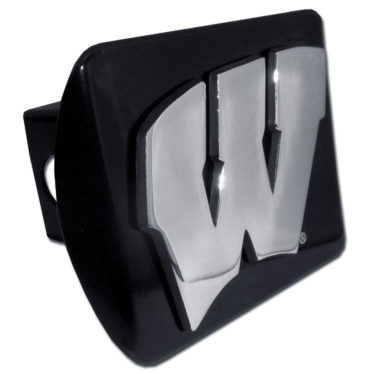 University of Wisconsin Emblem on Black Hitch Cover