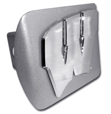 Wisconsin Brushed Hitch Cover