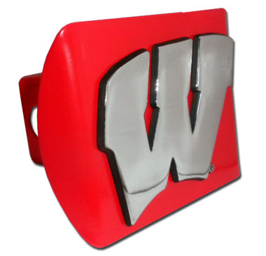 University of Wisconsin Emblem on Red Hitch Cover