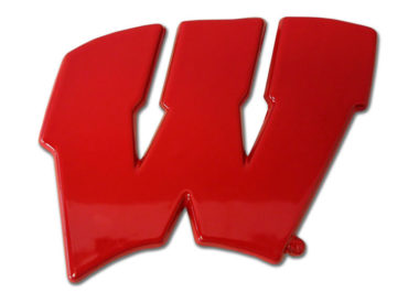 Wisconsin Red Powder-Coated Emblem