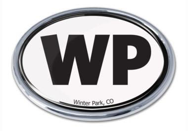 Winter Park White Chrome Emblem