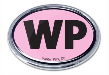 Winter Park Pink Chrome Emblem