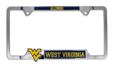 West Virginia 3D Alumni License Plate Frame