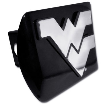 West Virginia University Emblem on Black Hitch Cover