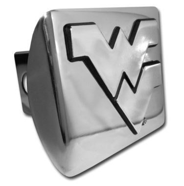 West Virginia University Emblem on Chrome Hitch Cover