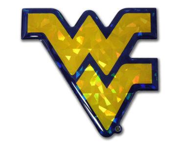 West Virginia University Yellow 3D Reflective Decal image