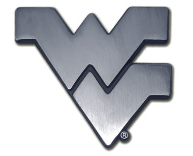 West Virginia University Matte Chrome Emblem
