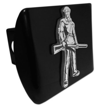 West Virginia University Mountaineer Emblem on Black Hitch Cover image