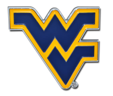 West Virginia University Navy Chrome Emblem