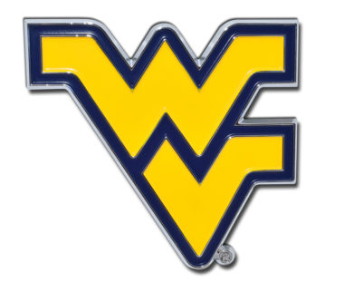 West Virginia University Yellow Chrome Emblem