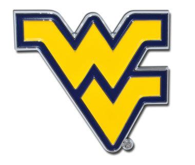 West Virginia University Yellow Chrome Emblem