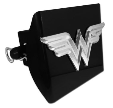 Wonder Woman 3D Emblem on Black Plastic Hitch Cover image