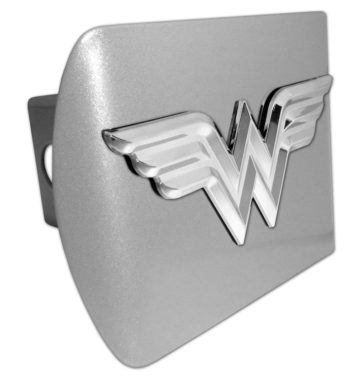 Wonder Woman 3D Emblem on Brushed Hitch Cover