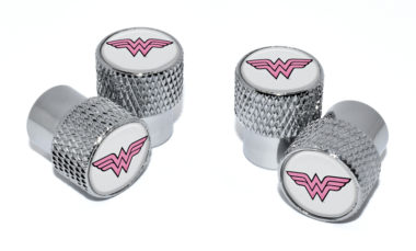 Wonder Woman Valve Stem Caps - Chrome Knurling image