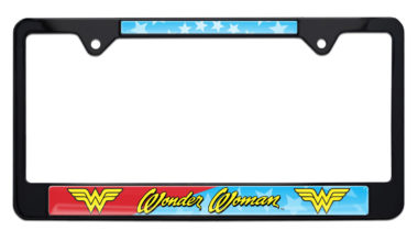 Wonder Woman Black License Plate Frame