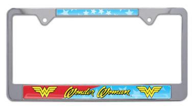 Wonder Woman Chrome License Plate Frame